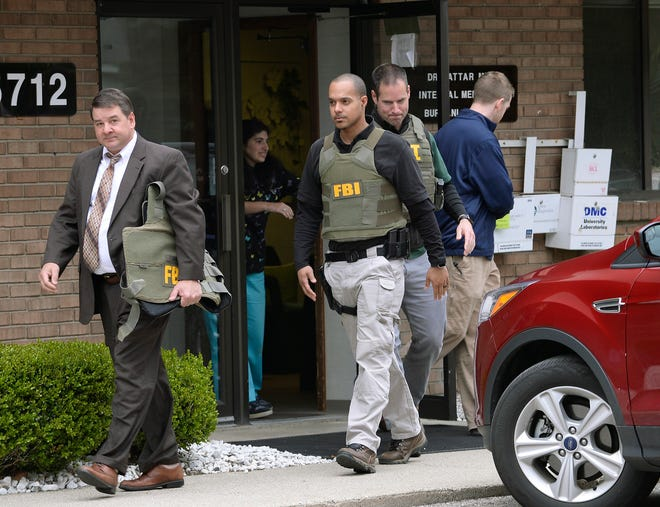 An FBI raid in 2017 of a doctor's office in Livonia, Michigan, in a genital mutilation case.