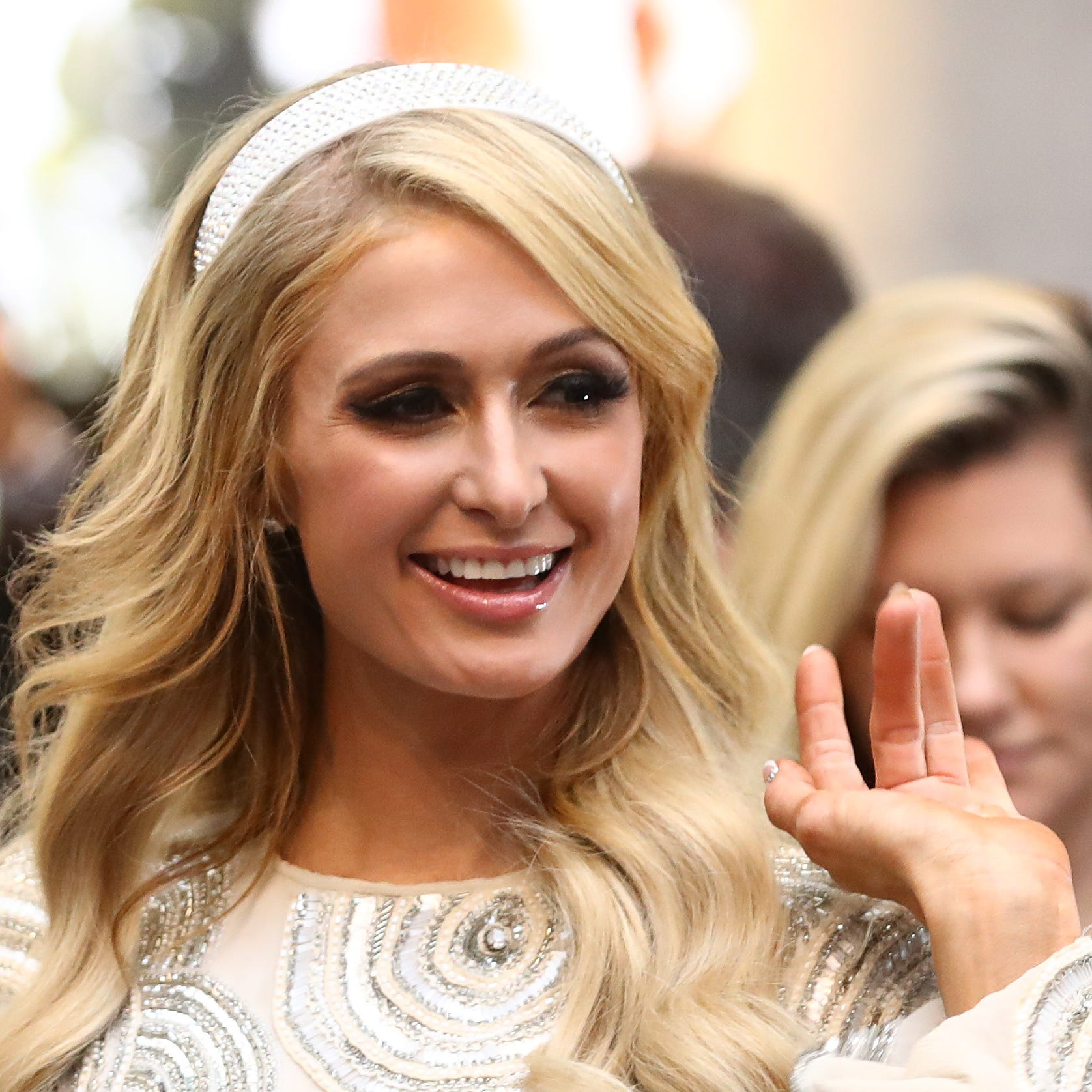 Paris Hilton greets fans at Highpoint Shopping Centre on Nov. 23, 2018, in Melbourne, Australia.