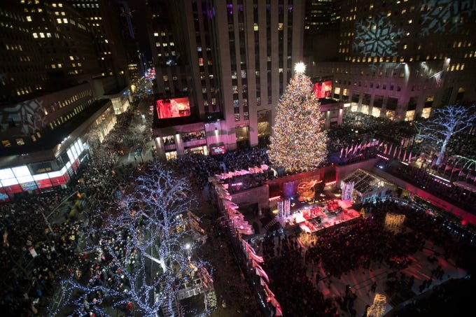 - Rockefeller Center Christmas Tree Lighting Kicks Off Holidays: Photos