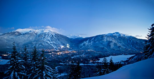 Adjacent and interconnected, Whistler and Blackcomb mountains form the single largest and most-visited ski resort in North America, with a very large and well-planned resort village between them.