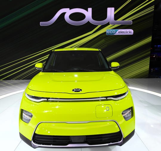 Kia introduced three versions of the Soul their small crossover including the Eco Electric model, during press preview day at Los Angeles Auto Show.
