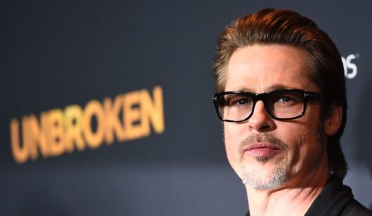 "Brad Pitt in December 2014 at premiere of ""Unbroken"" in Hollywood."