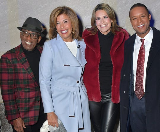 "Al Roker, Hoda Kotb, Savannah Guthrie and Craig Melvin hosted ""Christmas at Rockefeller Center."""