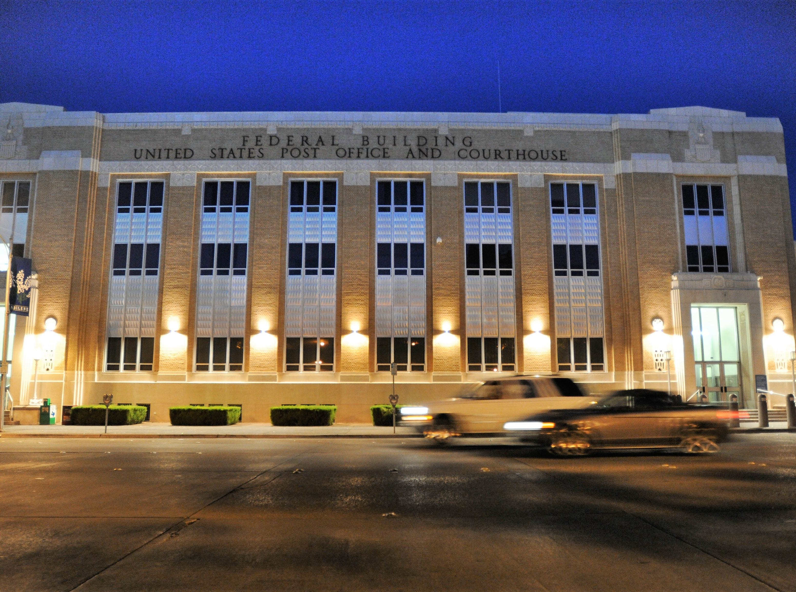 The post office building downtown was designed by David Castle.