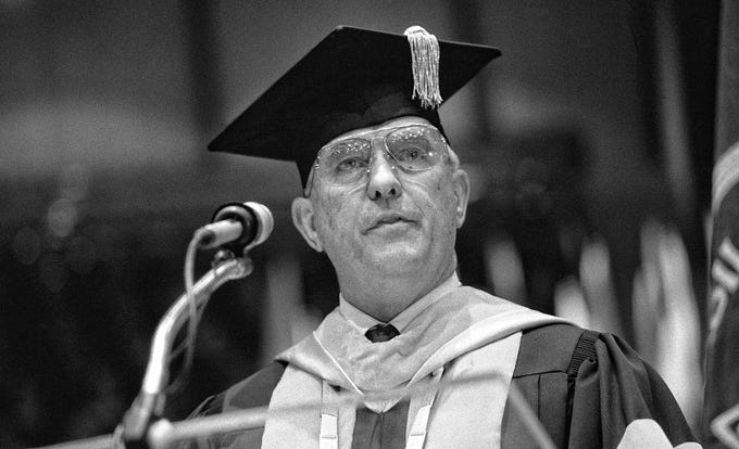 Dr. William J. Teague, ninth president of Abilene Christian University, who served from 1981 to 1991. He died Wednesday at 91.
