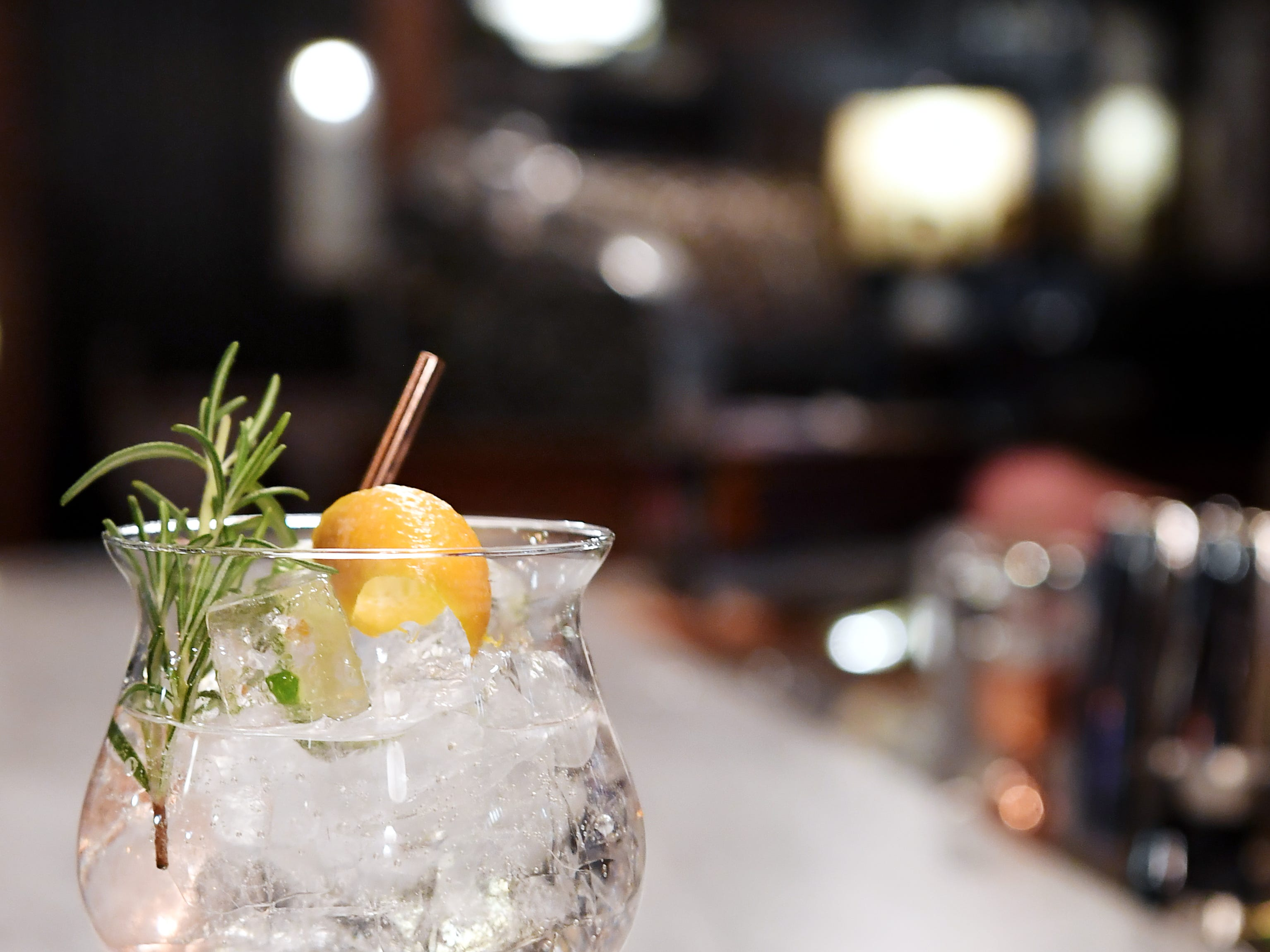 "Antidote's Irish ""gin tonic,"" left, and the ""Net-Fix and Chill,"" a spin on a whisky fix."