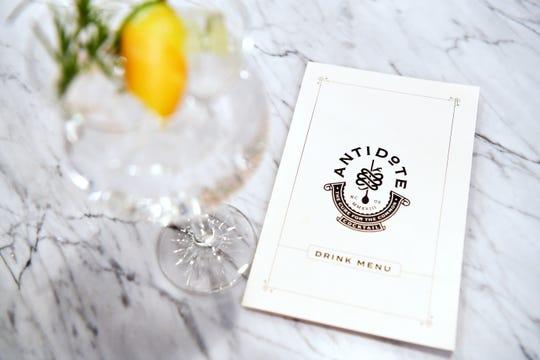 """An Irish """"gin tonic"""" at Antidote."""