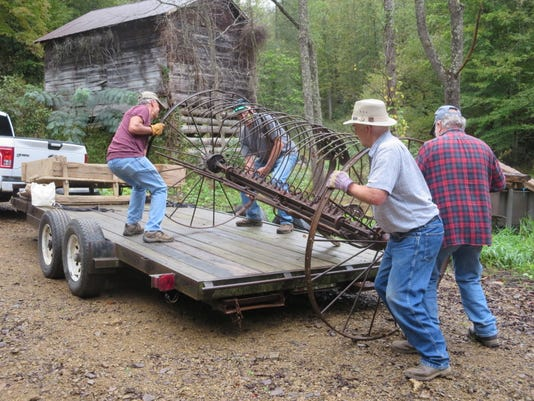 Loading Donated Hay Rake