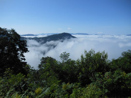 Bob DeBrecht took this photo from the summit of Craggy Dome after a long bushwhacking hike off the Blue Ridge Parkway.