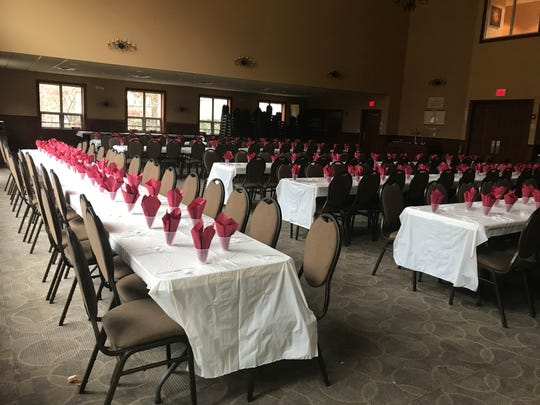 Places are set for a Nov. 30 Shabbat Dinner at the Rohr Chabad Center for Jewish Student Life in Vestal.