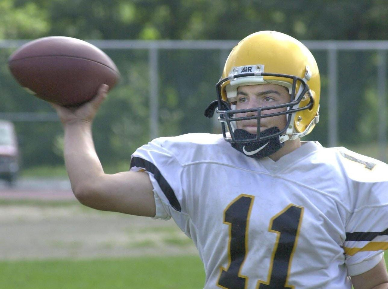 From 1999: Windsor's Paul Suhadolnik looks for a receiver during passing practice.