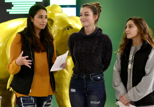 Weekly Drive: Vestal High School students Areeba Ahmed, Katie Tilyou and Jaclyn Wassel talk about the Toys for Tots fundraiser on Friday, November 30, 2018.