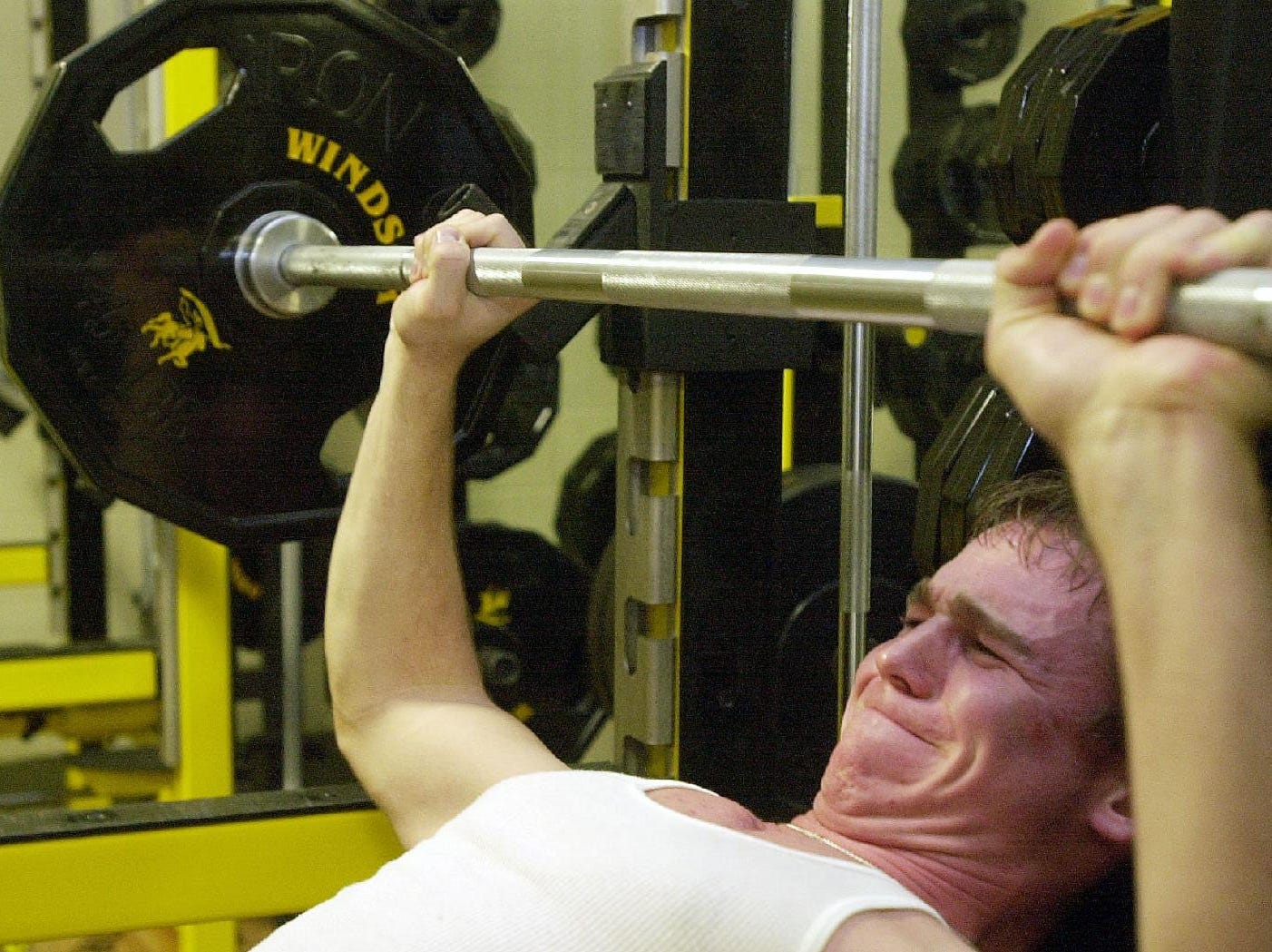 From 2001:-  -Kevin Tripp, 16, a sophomore at Windsor High School, bench presses in the school's fitness center Thurs night. Tripp plays both football and baseball and works out at the gym regularlly.