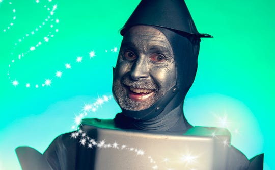 "Jon Payne plays Tinman in Bainbridge Performing Arts' production of ""The Wizard of Oz."""