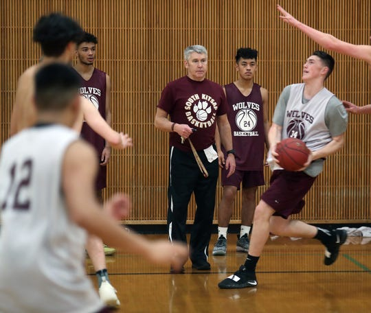 South Kitsap boys basketball coach John Callaghan led the Wolves to six consecutive berths in the state tournament from 2001-2006.