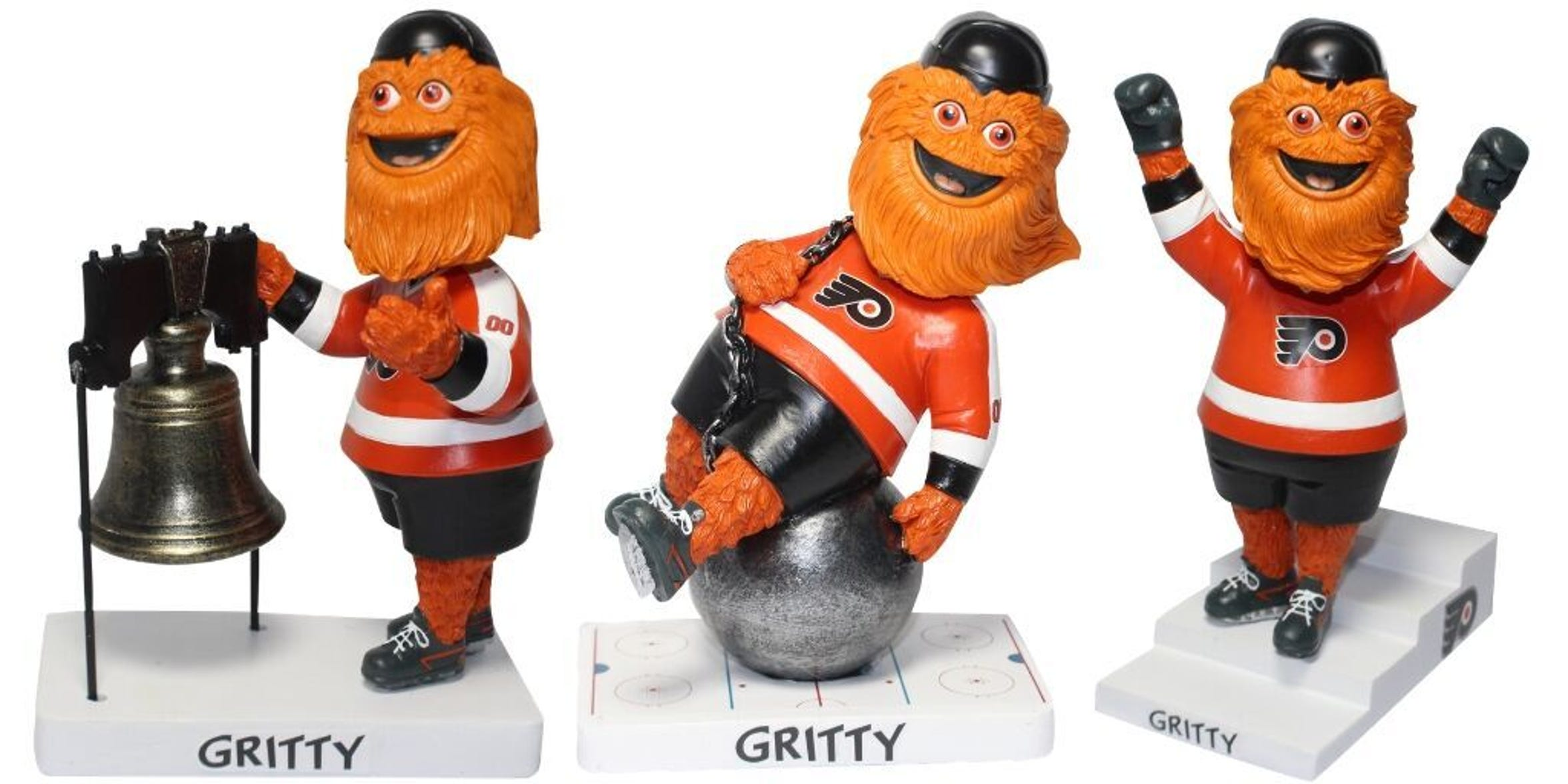 National Bobblehead Hall of Fame has released its officially-licensed special edition Gritty bobbleheads.