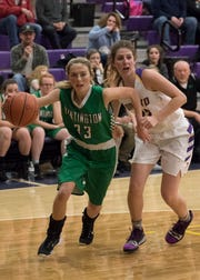 Huntington High School girls basketball's Braiden Collins is a dynamic scorer as she is currently No. 34 on the SVC all-time scoring list.