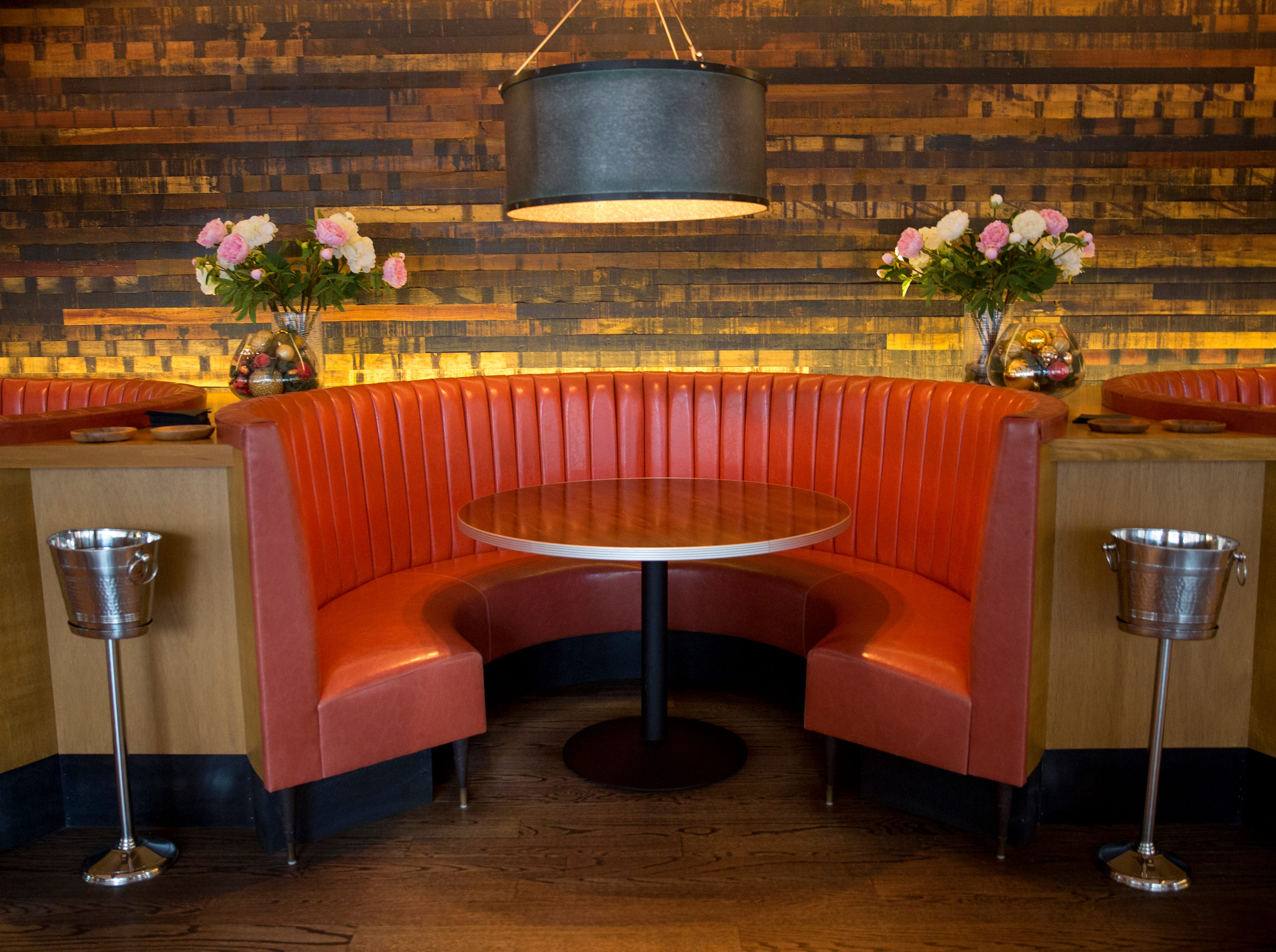 The dining area at The Mercer on Vine Street in Over-the-Rhine. The restaurant has been serving Italian-Eureopen food since 2014. The owner, Jon Zipperstein, also owns Kaze, just up the block and Embers in Madeira. Emmy Friedrichs is the manager.