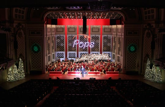 The stage will be decorated with spirit at Holiday Pops.