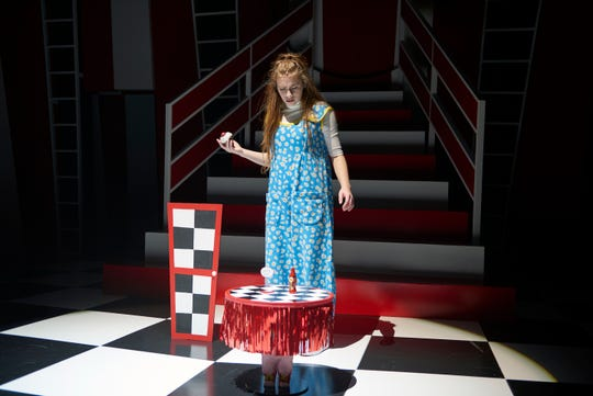 """Deej Ragusa plays the title role of Alice in Ensemble Theatre Cincinnati's musical production of """"Alice in Wonderland,"""" which runs through Dec. 30."""