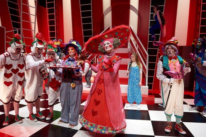 "The cast of Ensemble Theatre Cincinnati's production of ""Alice in Wonderland."""