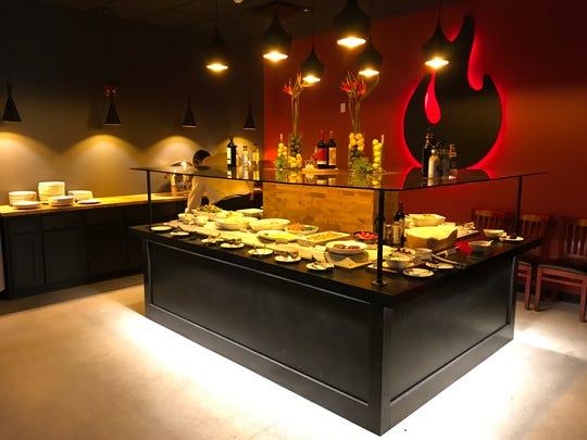 The salad bar at BAH Brazilian Steakhouse