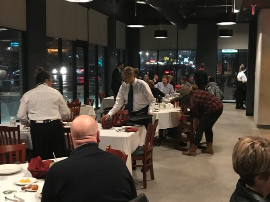 The dining room at BAH Brazilian Steakhouse faces Ingersoll Ave.