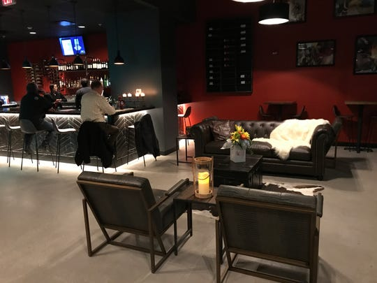 The lounge at BAH Brazilian Steakhouse has 10 seats plus high top tables and a separate 'lounge only' tapas-style menu.