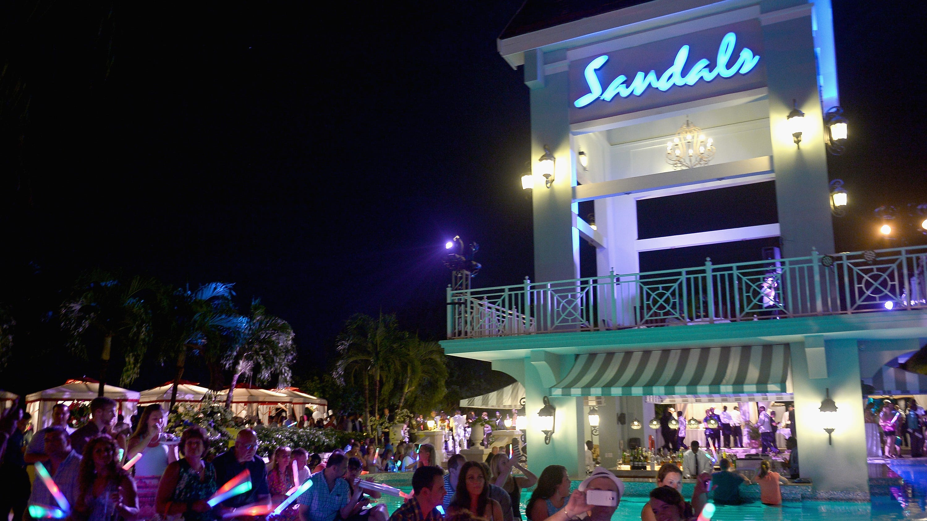 Guests of Sandals Ochi Beach Resort danced the night away to the beats of Music sensation, DJ Tracy Young during day 3 of the grand opening of Sandals Ochi Beach Resort on June 1, 2015 in Ocho Rios, Jamaica.