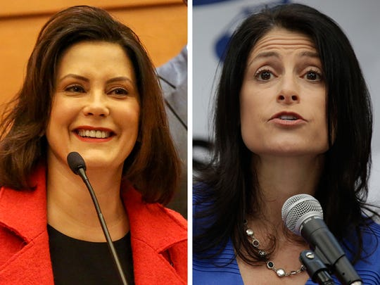 Gov. Gretchen Whitmer, left, and Attorney General Dana Nessel