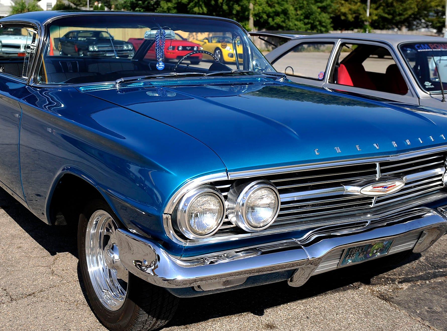 A 1960 Chevy Impala owned by Jay Harbin of Berkley.