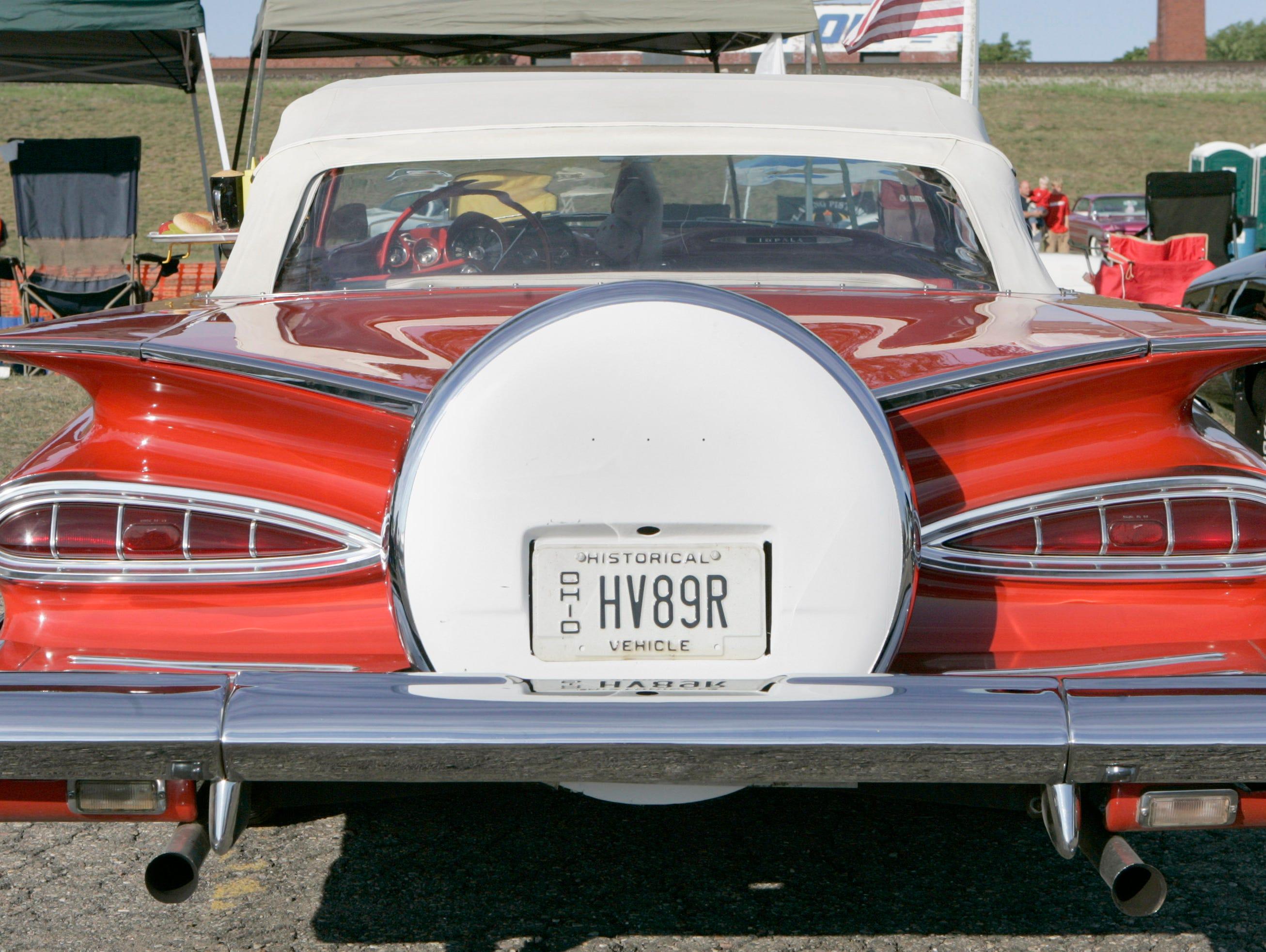 A 1961 Chevrolet Impala on Woodward  in Pontiac, Aug. 18, 2007.
