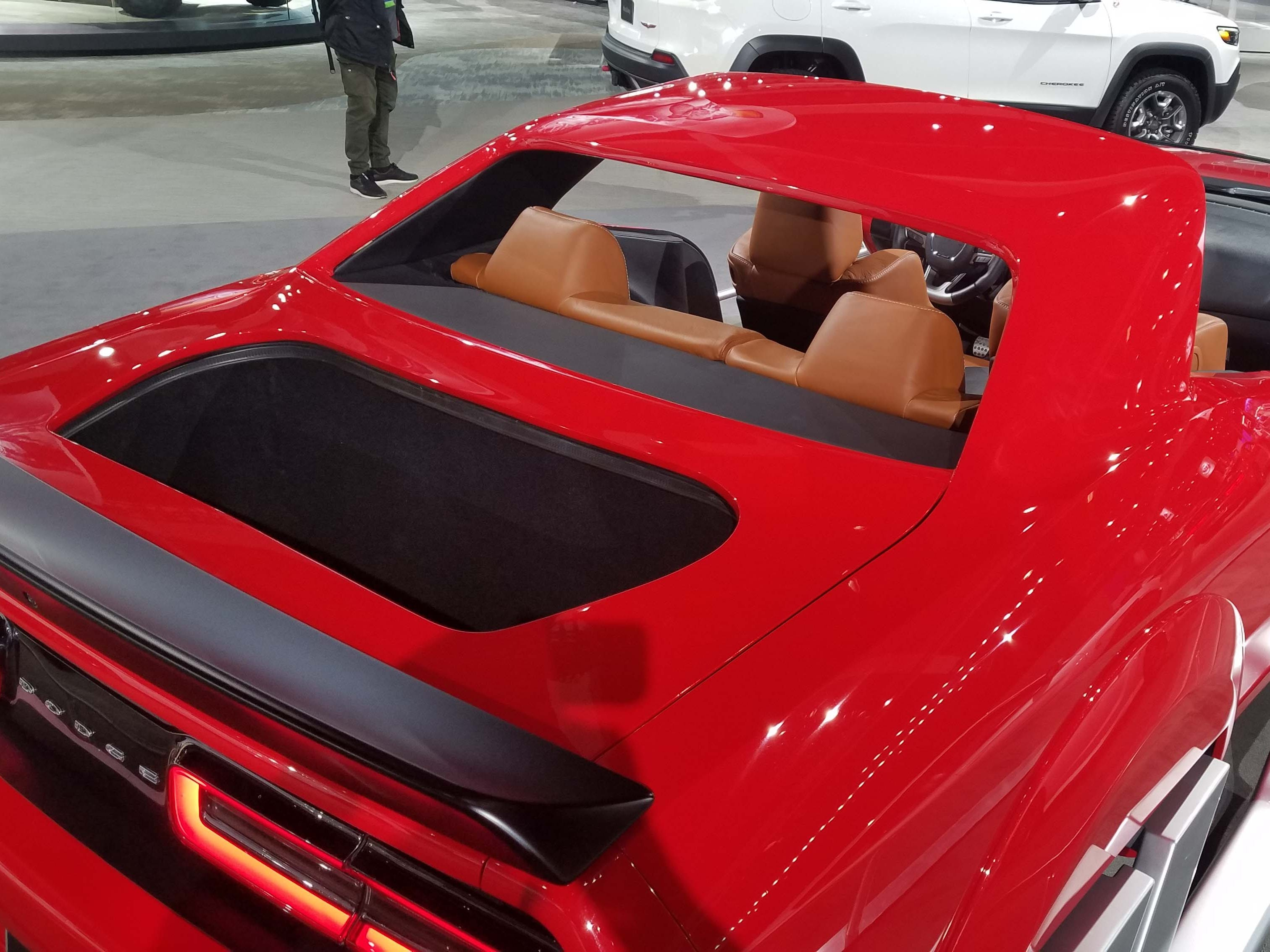 A trunk hole for Santa's bag. The Dodge Challenger Hellcat Redeye sleigh.
