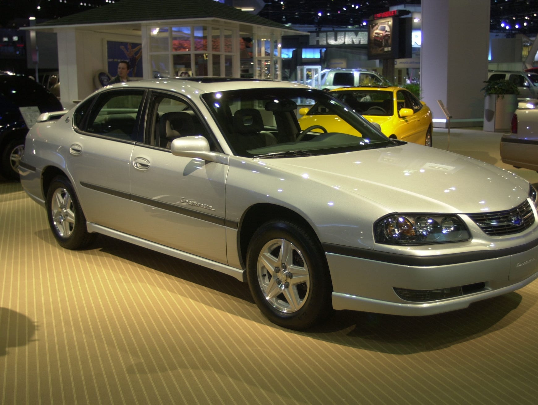 A Chevrolet Impala at the North American Auto Show at Cobo Conference Center in Detroit on Jan. 7, 2002.
