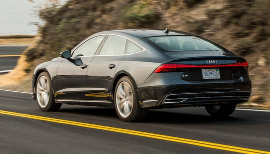 The 2019 Audi A7 blends distinctive coupe style with four-door sedan comfort for a unique alternative to an SUV .