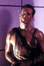 """Yes, it's a Christmas move: """"Die Hard"""" with Bruce Willis."""
