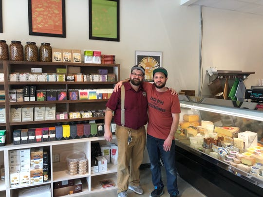 Zach Berg, left, and William Werner opened Mongers' Provisions in Midtown Detroit this week.