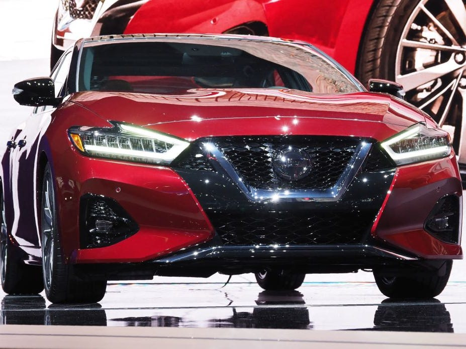 The 2019 Nissan Maxima is displayed at AutoMobility LA, the trade show ahead of the LA Auto Show, November 28, 2018.