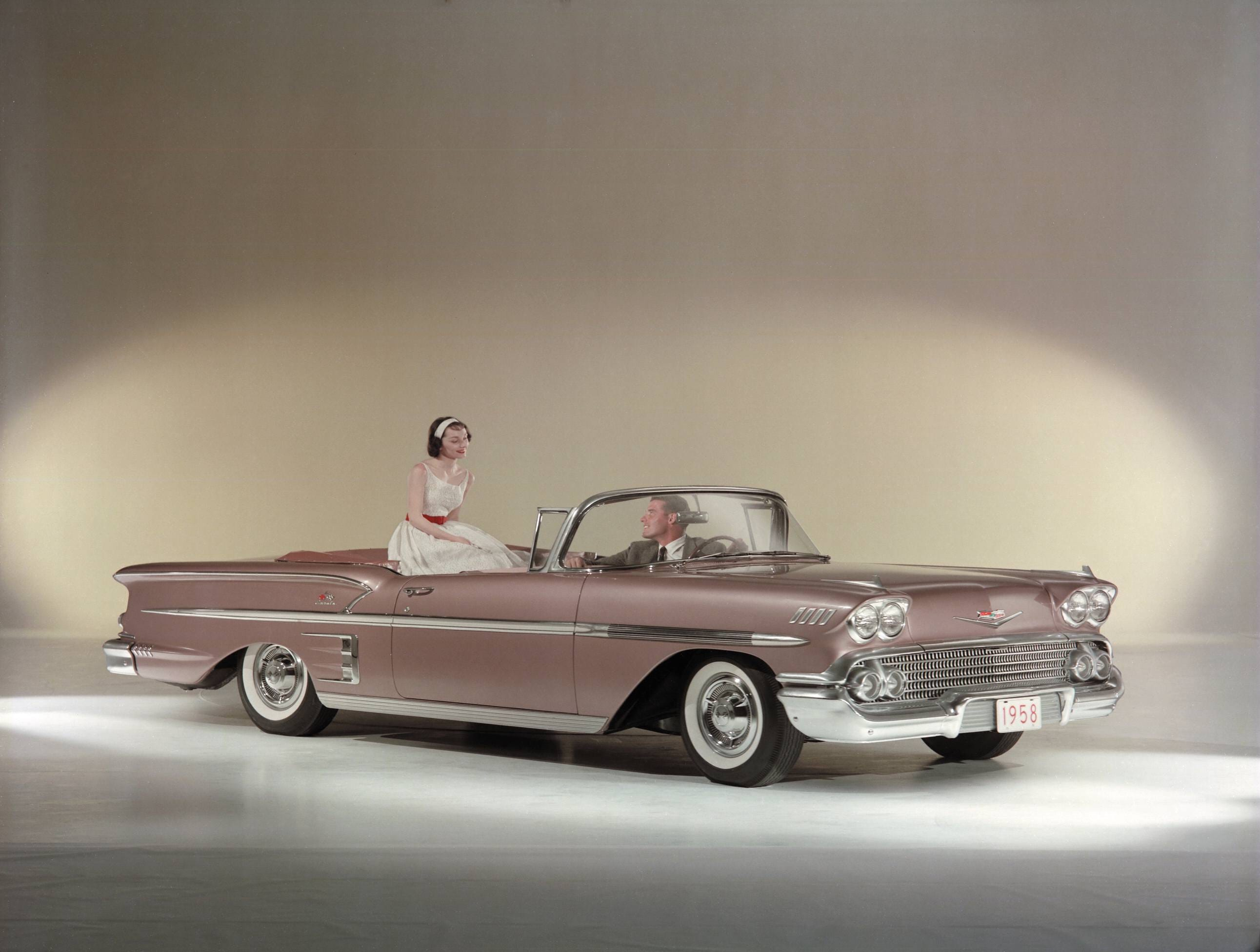 Promotional photo of a 1958 Chevrolet Impala.