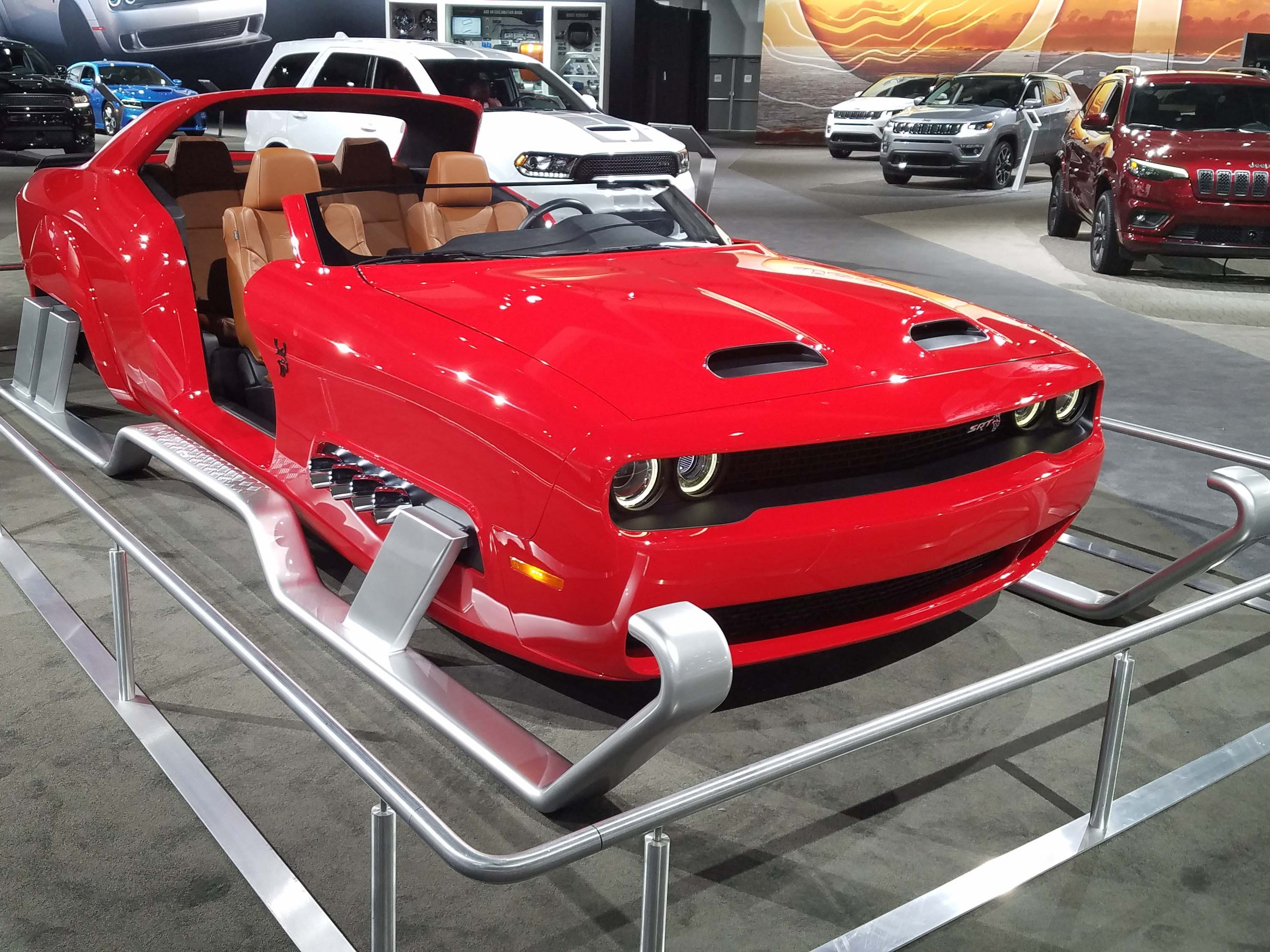 The Dodge Challenger Hellcat Redeye sleigh is Santa's dream sled.