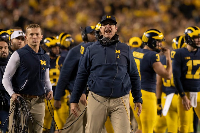 Jim Harbaugh is getting his fair share of scrutiny, probably even from himself, but in no way is his job in jeopardy.
