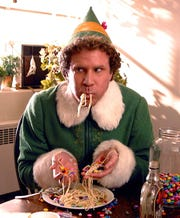 """Will Ferrell plays a human raised by Santa's elves in 2003's """"Elf."""""""