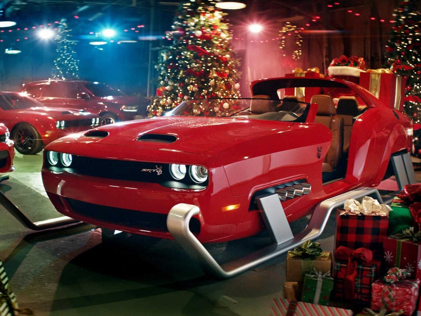 The Dodge Challenger HellcatRedeye sleigh was introduced as part of a Black Friday TV ad campaign. Now it's at the LA Auto Show in all its 797-horsepower glory.