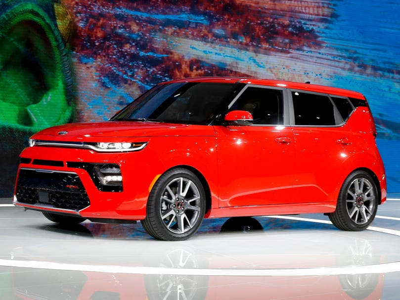 A Kia Soul GT is shown during the Los Angeles Auto Show on Wednesday, Nov. 28, 2018.