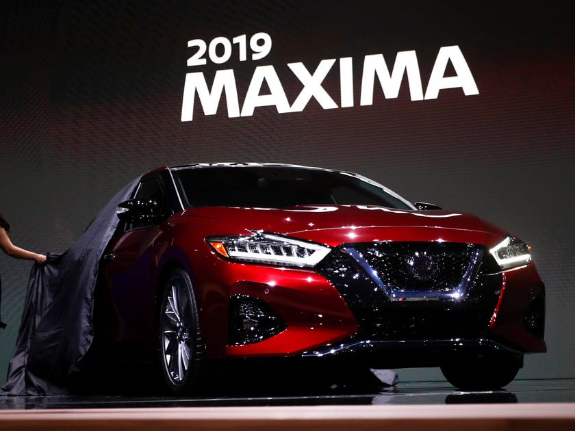The 2019 Nissan Maxima is unveiled at the Los Angeles Auto Show Wednesday, Nov. 28, 2018, in Los Angeles.