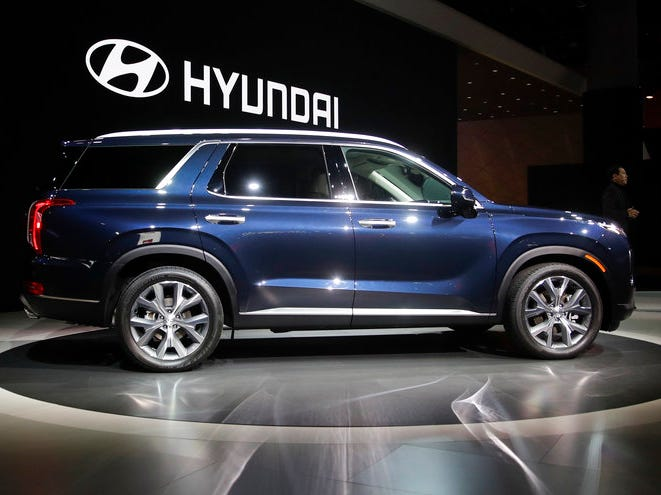 The 2020 Hyundai Palisade is introduced at the Los Angeles Auto Show.