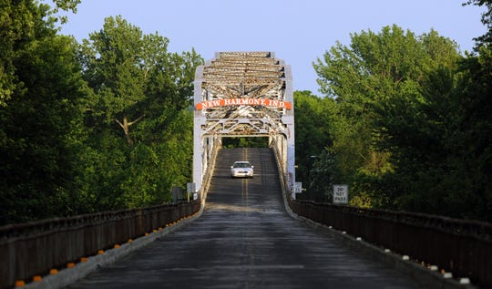The Harmony Way Bridge, which connects New Harmony to southeastern Illinois over the Wabash River, closed in 2012.