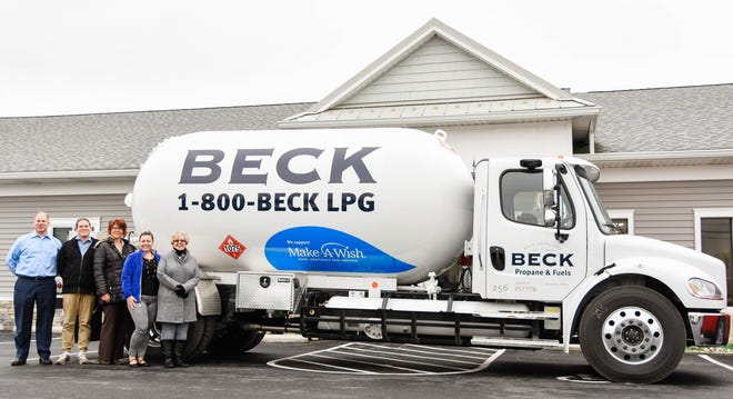 Beck Propane Make-A-Wish truck