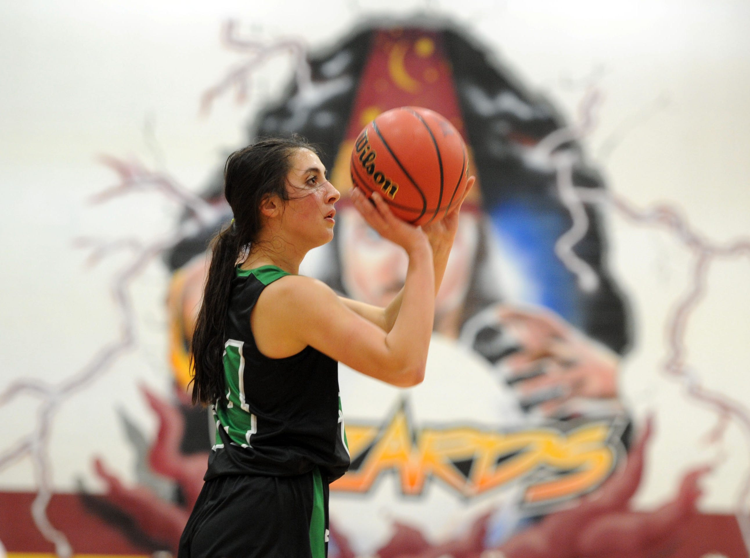 Fossil Ridge's Sophia Hadad lines up a shot during the game against Windsor on Thursday at Windsor High School.