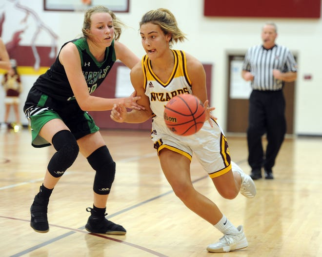 Ally Kennis, shown driving against Fossil Ridge's Allison Osthoff during a game last week, and her Windsor High School girls basketball teammates will host Cheyenne (Wyo.) East in a 6:30 p.m. game Wednesday as part of the High School Winter Showcase.